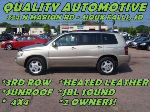 2007 Toyota Highlander for sale at Quality Automotive in Sioux Falls SD