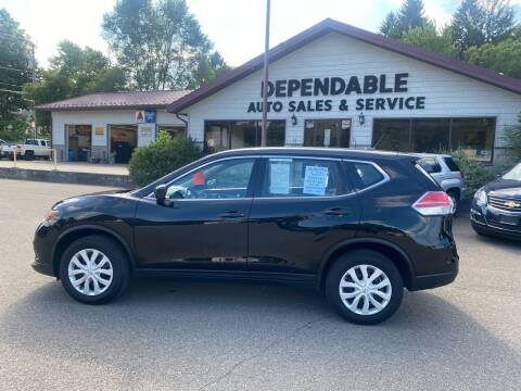 2016 Nissan Rogue for sale at Dependable Auto Sales and Service in Binghamton NY