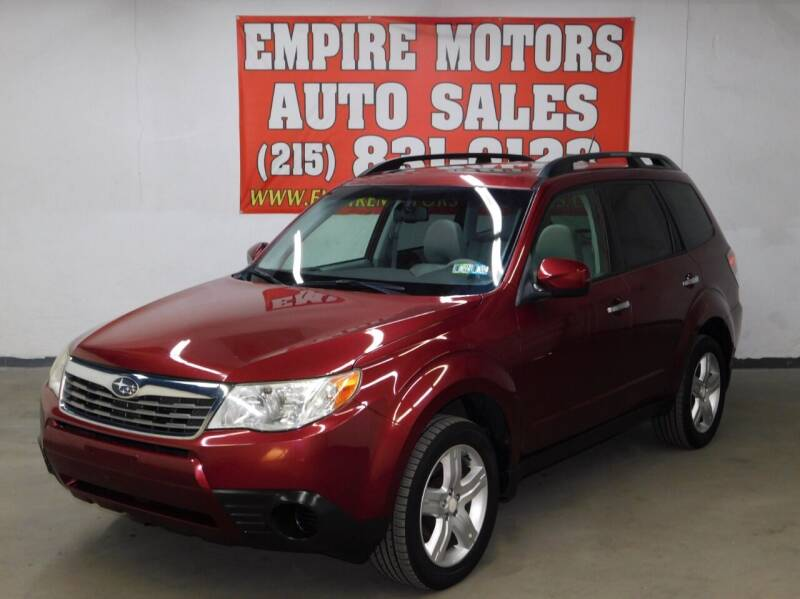 2010 Subaru Forester for sale at EMPIRE MOTORS AUTO SALES in Philadelphia PA