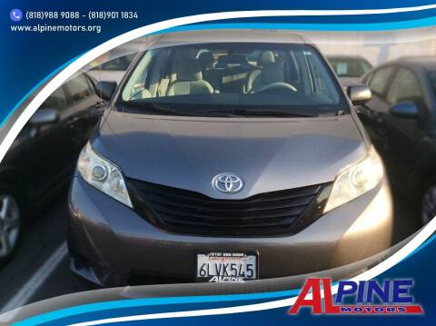 2011 Toyota Sienna for sale at Alpine Motors in Van Nuys CA