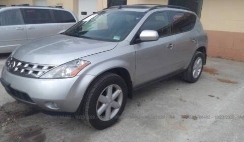2005 Nissan Murano for sale at GDT AUTOMOTIVE LLC in Hopewell NY