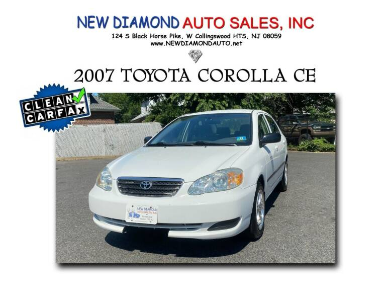 2007 Toyota Corolla for sale at New Diamond Auto Sales, INC in West Collingswood Heights NJ