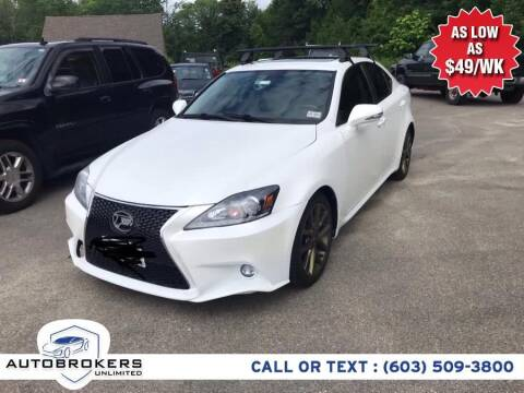 2013 Lexus IS 250 for sale at Auto Brokers Unlimited in Derry NH