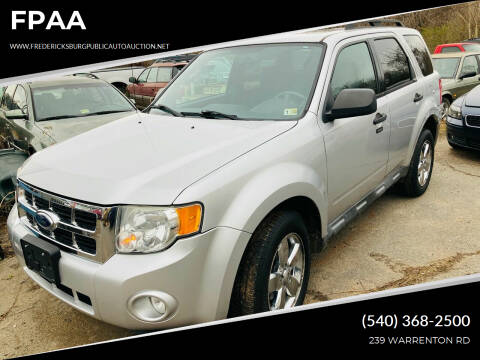 2010 Ford Escape for sale at FPAA in Fredericksburg VA