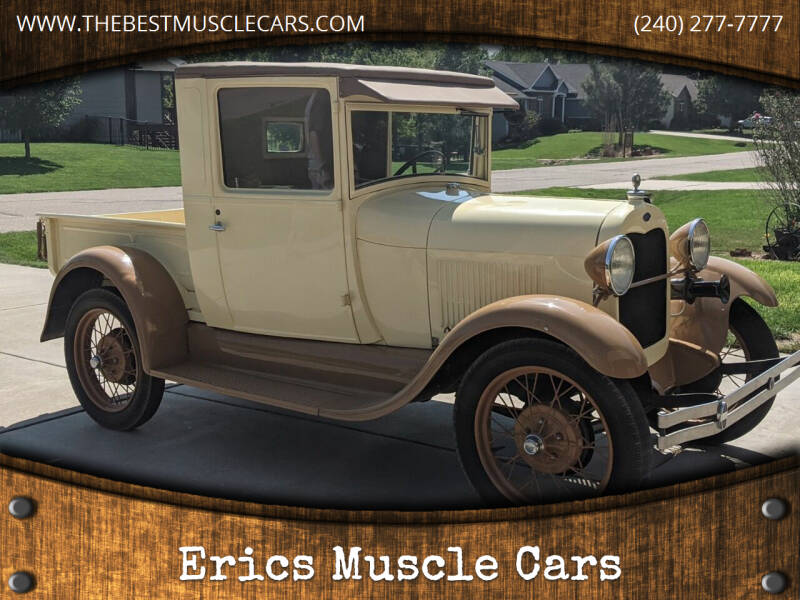 1928 Ford Model A for sale at Erics Muscle Cars in Clarksburg MD