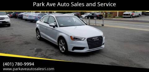 2016 Audi A3 for sale at Park Ave Auto Sales and Service in Cranston RI