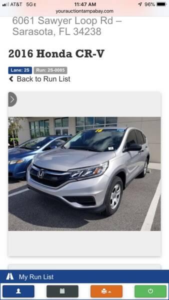2016 Honda CR-V for sale at Internet Motorcars LLC in Fort Myers FL