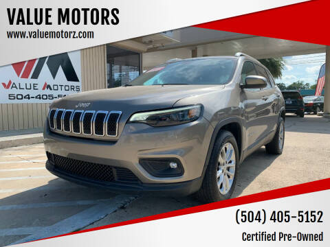 2019 Jeep Cherokee for sale at VALUE MOTORS in Kenner LA