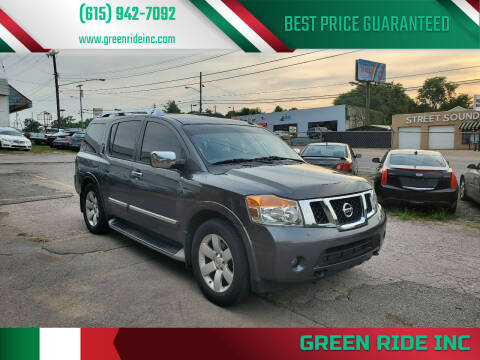 2010 Nissan Armada for sale at Green Ride Inc in Nashville TN