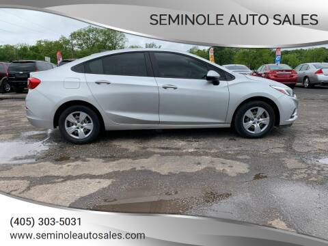 2017 Chevrolet Cruze for sale at Seminole Auto Sales in Seminole OK