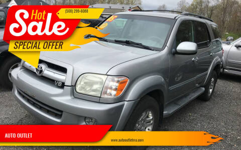2005 Toyota Sequoia for sale at AUTO OUTLET in Taunton MA