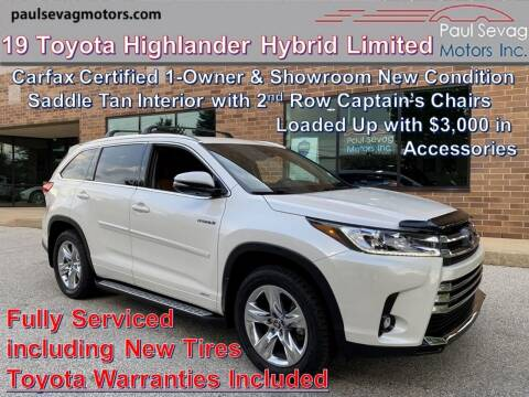 2019 Toyota Highlander Hybrid for sale at Paul Sevag Motors Inc in West Chester PA
