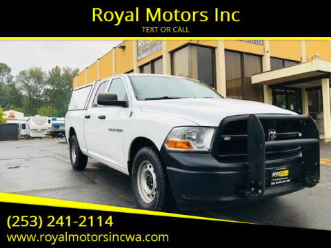 2012 RAM Ram Pickup 1500 for sale at Royal Motors Inc in Kent WA