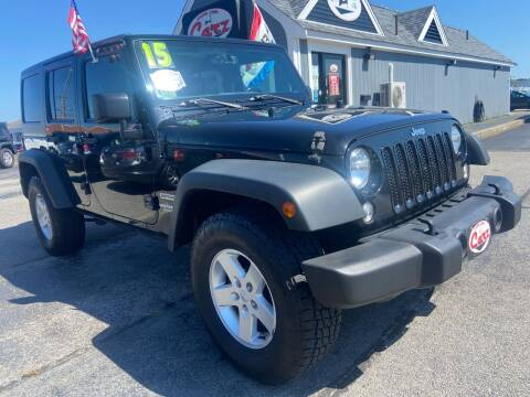 2015 Jeep Wrangler Unlimited for sale at Cape Cod Carz in Hyannis MA