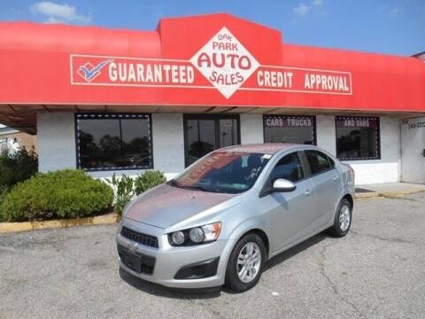 2014 Chevrolet Sonic for sale at Oak Park Auto Sales in Oak Park MI