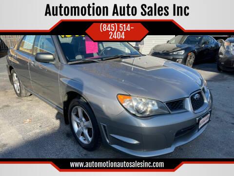 2006 Subaru Impreza for sale at Automotion Auto Sales Inc in Kingston NY