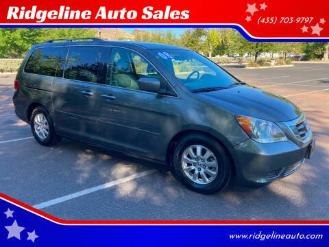 2008 Honda Odyssey for sale at Ridgeline Auto Sales in Saint George UT