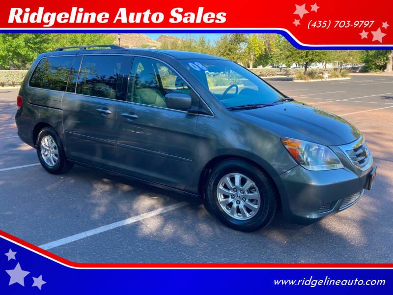 2008 Honda Odyssey for sale at Ridgeline Auto Sales in Saint George UT