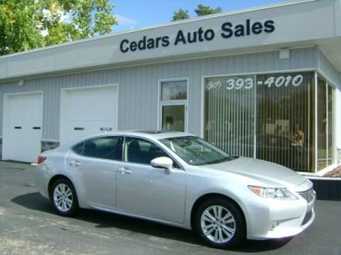 2014 Lexus ES 350 for sale at Cedar Auto Sales in Lansing MI