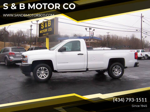 2016 Chevrolet Silverado 1500 for sale at S & B MOTOR CO in Danville VA