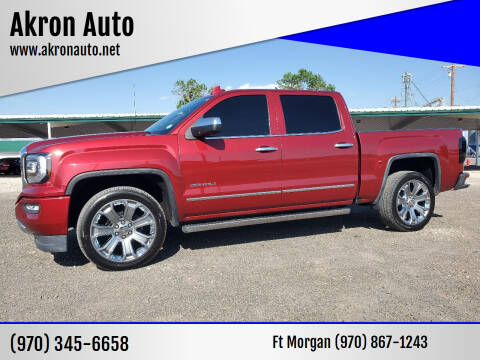 2018 GMC Sierra 1500 for sale at Akron Auto in Akron CO