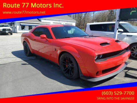 2020 Dodge Challenger for sale at Route 77 Motors Inc. in Weare NH