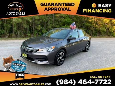 2017 Honda Accord for sale at Drive 1 Auto Sales in Wake Forest NC