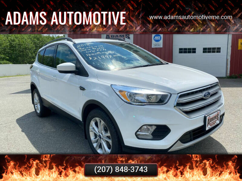 2018 Ford Escape for sale at Adams Automotive in Hermon ME
