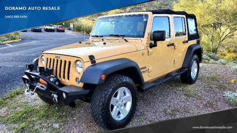 2014 Jeep Wrangler Unlimited for sale at DORAMO AUTO RESALE in Glendale AZ