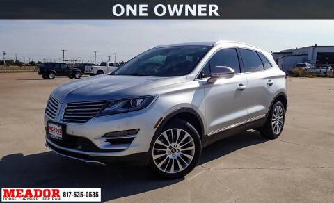 2018 Lincoln MKC for sale at Meador Dodge Chrysler Jeep RAM in Fort Worth TX