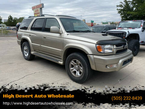 2002 Toyota 4Runner for sale at High Desert Auto Wholesale in Albuquerque NM