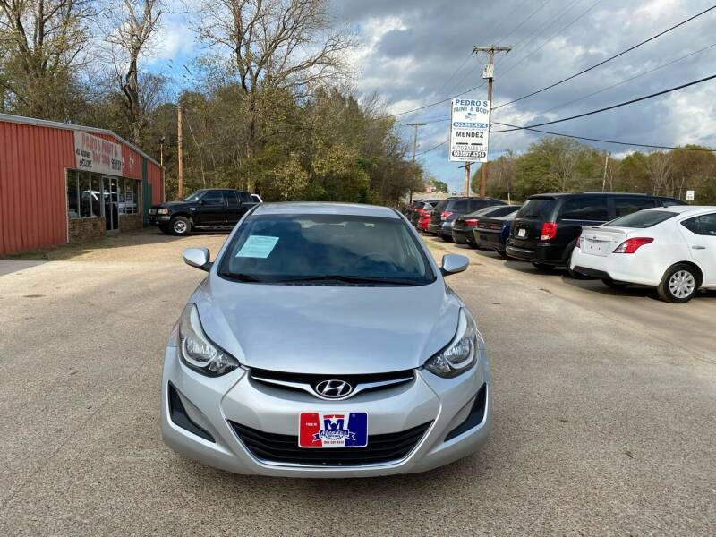 2015 Hyundai Elantra for sale at MENDEZ AUTO SALES in Tyler TX