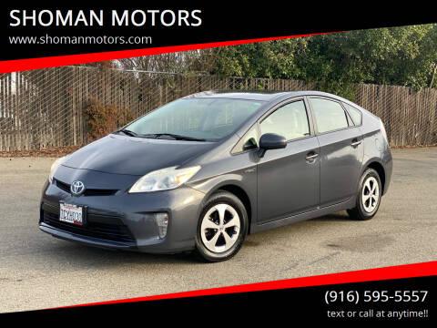 2013 Toyota Prius for sale at SHOMAN MOTORS in Davis CA