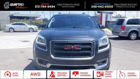 2014 GMC Acadia for sale at Quattro Motors 2 - 1 in Redford MI