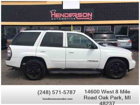 2004 Chevrolet TrailBlazer for sale at Henderson Automotive, LLC in Oak Park MI