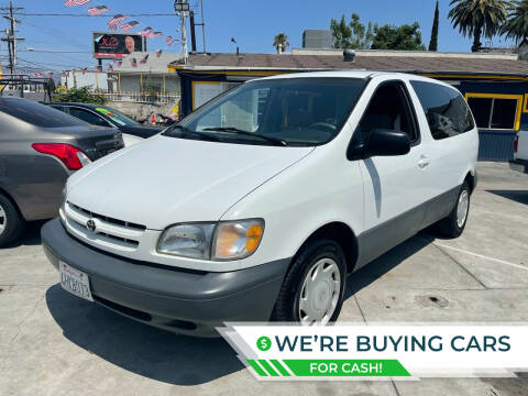 2000 Toyota Sienna for sale at Good Vibes Auto Sales in North Hollywood CA