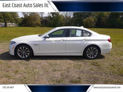 2014 BMW 5 Series for sale at East Coast Auto Sales llc in Virginia Beach VA