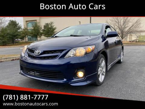 2013 Toyota Corolla for sale at Boston Auto Cars in Dedham MA
