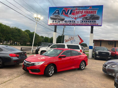 2018 Honda Civic for sale at ANF AUTO FINANCE in Houston TX