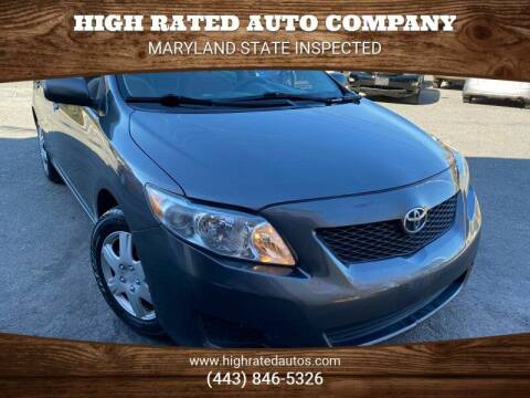 2009 Toyota Corolla for sale at High Rated Auto Company in Abingdon MD