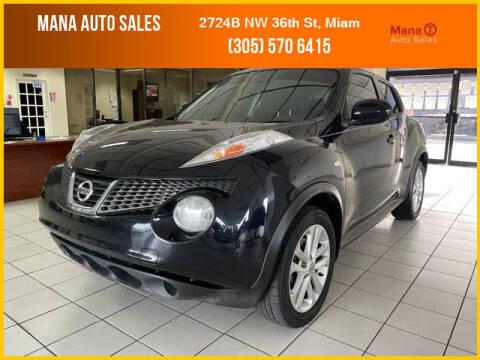 2014 Nissan JUKE for sale at MANA AUTO SALES in Miami FL