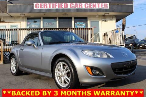2009 Mazda MX-5 Miata for sale at CERTIFIED CAR CENTER in Fairfax VA