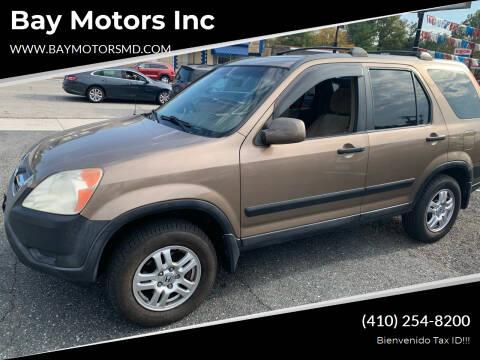 2004 Honda CR-V for sale at Bay Motors Inc in Baltimore MD