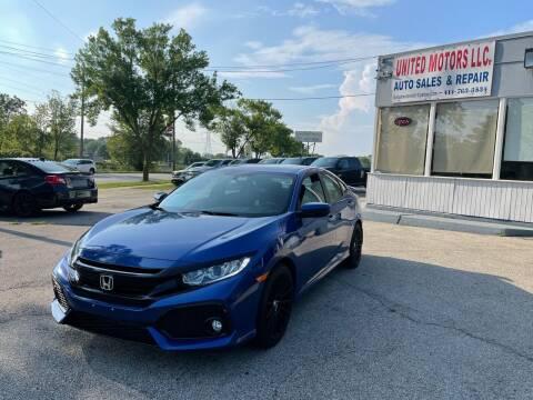 2018 Honda Civic for sale at United Motors LLC in Saint Francis WI