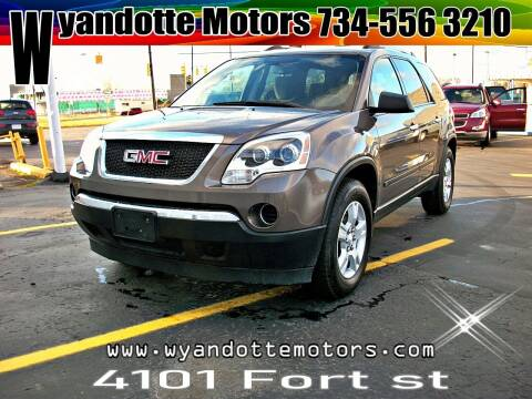 2010 GMC Acadia for sale at Wyandotte Motors in Wyandotte MI