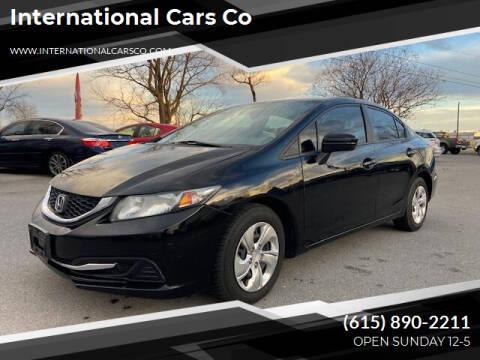 2014 Honda Civic for sale at International Cars Co in Murfreesboro TN