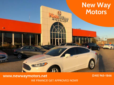 2015 Ford Fusion for sale at New Way Motors in Ferndale MI