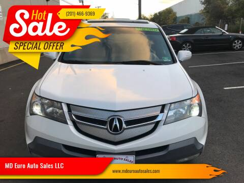 2008 Acura MDX for sale at MD Euro Auto Sales LLC in Hasbrouck Heights NJ