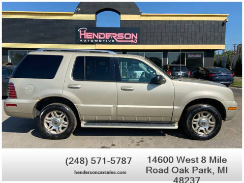 2004 Mercury Mountaineer for sale at Henderson Automotive, LLC in Oak Park MI