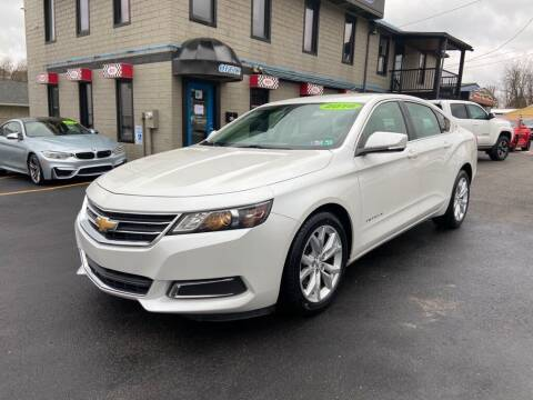 2016 Chevrolet Impala for sale at Sisson Pre-Owned in Uniontown PA